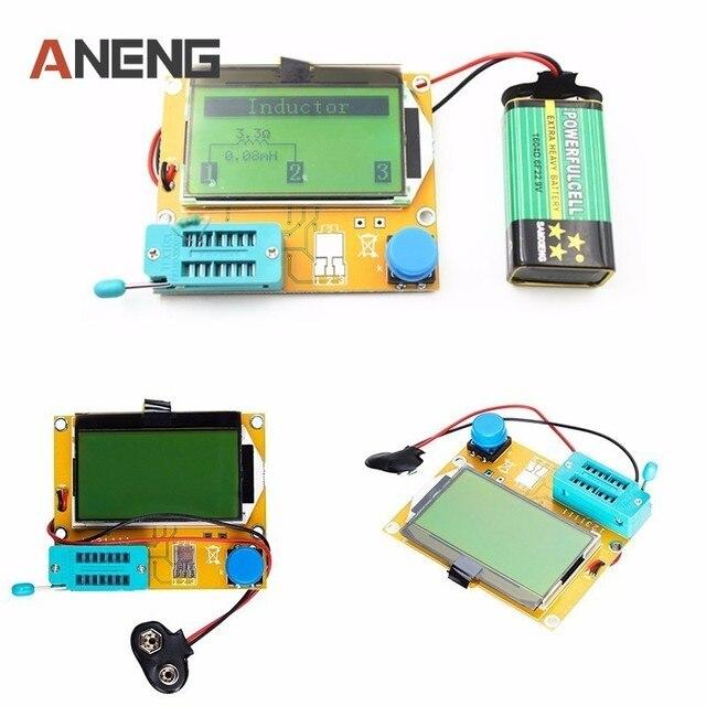 US $12 3  V2 68 ESR T4 Mega328 Digital Transistor Tester Diode Triode  Capacitance ESR Meter MOS/PNP/NPN LCR 12864 LCD screen في V2 68 ESR-T4  Mega328