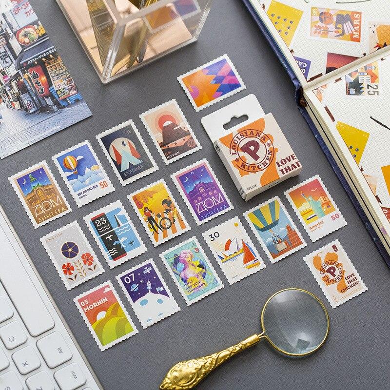 50 Pcs/Set Modern Life Mini Seal Sticker Mobile Decoration Stickers Scrapbooking DIY Craft Stickers