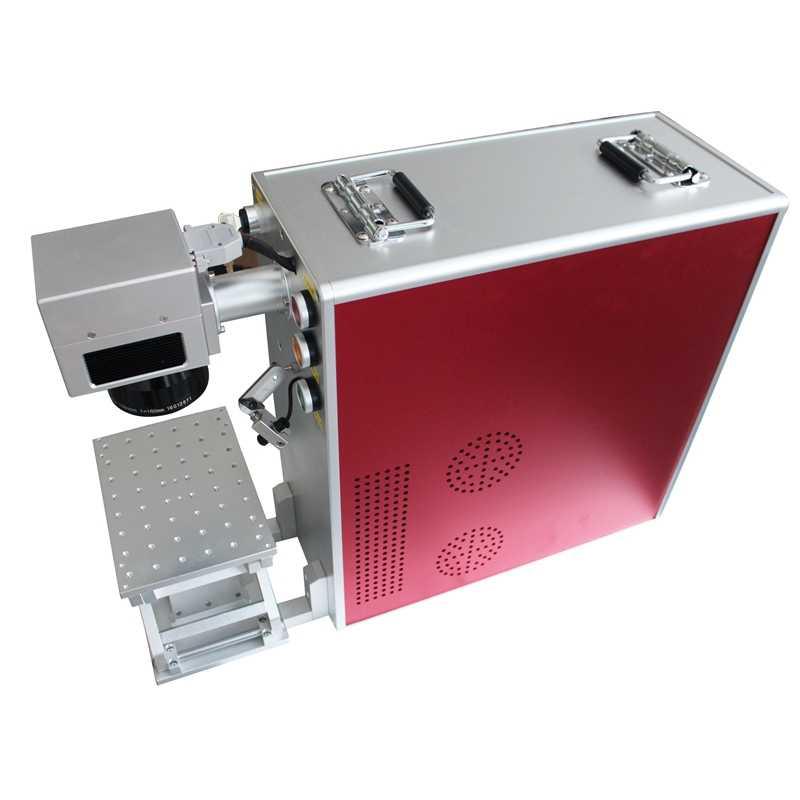 20 w 30 w 50 w צינור נושאות סיבי לייזר סימון מכונה/לייזר סימון מכונה נייד סיבים/סימון מכונה