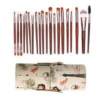 Eye Makeup Brush Set 20pcs Eyeshadow Foundation Tool Eye Brushes Set Blend Shadow Angled Eyeliner With