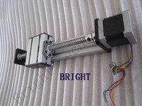 Ballscrew 1605 100mm Travel Length Linear Guide Rail CNC Stage Linear Motion Moulde Linear + 57 Nema 23 Stepper Motor SG