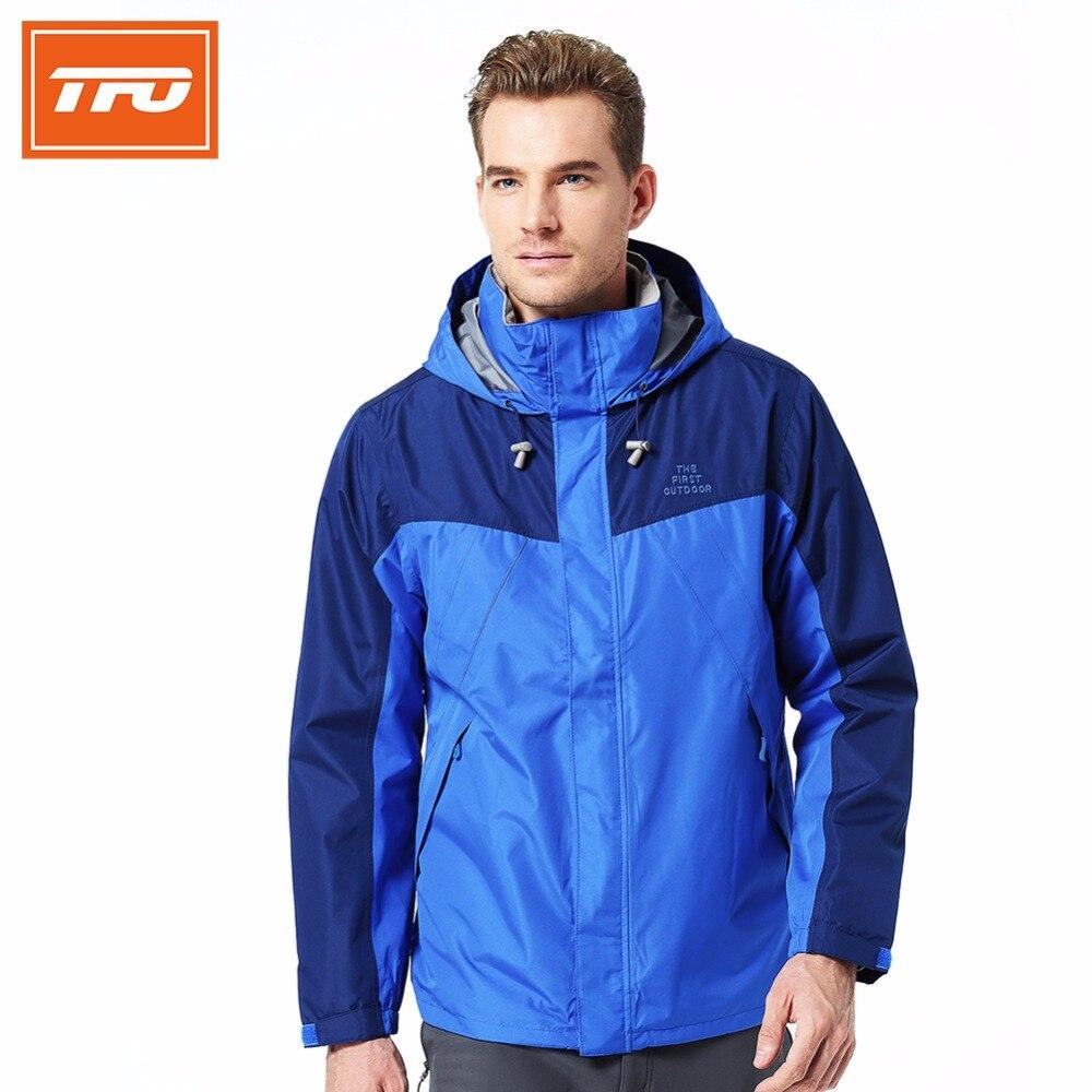 Tfo hombres deportes al aire libre jaqueta chaqueta de lluvia hombres 3-en-1 cha