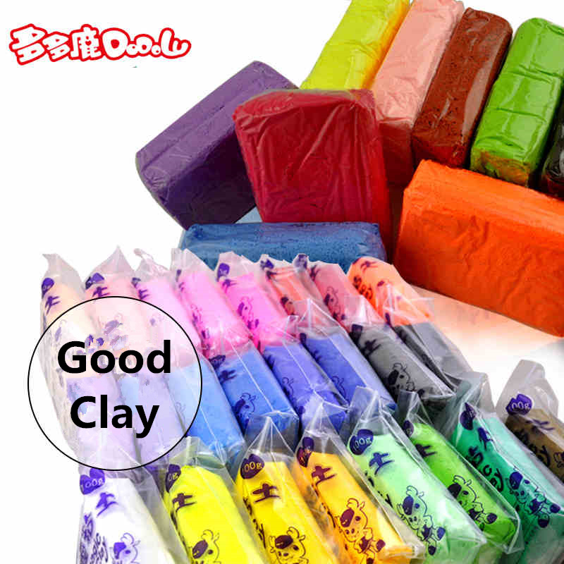 цена на DoDoLu Retail 5*100g/bag 12 Colors DIY Safe and Nontoxic Malleable Fimo Polymer Clay Playdough Soft Power Toys Gift for Child