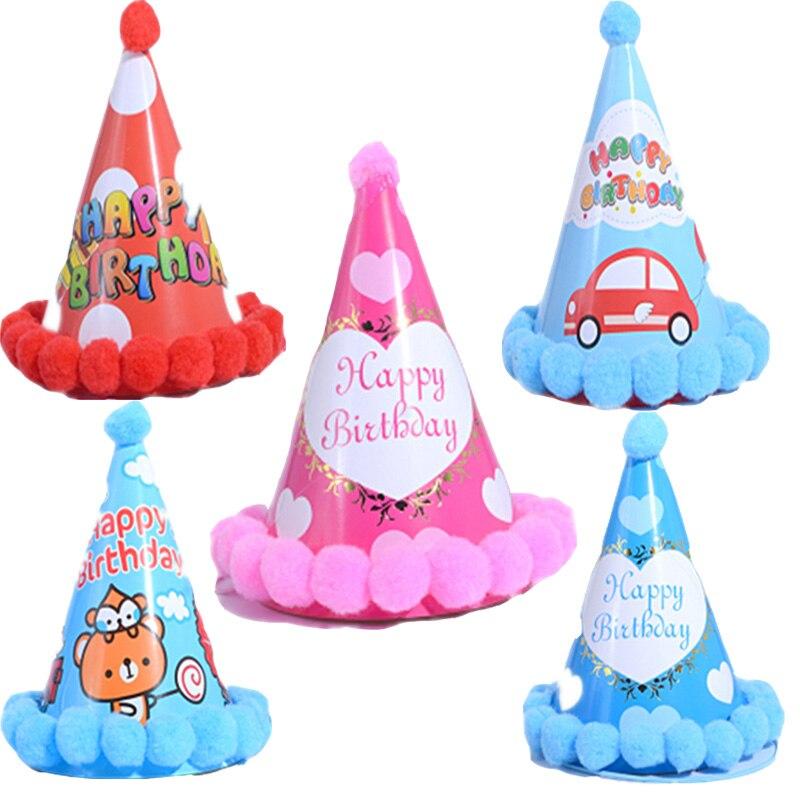 Joylong Saint Patrick Children's Birthday Gold Baby Hat Birthday Oarty Toy Pompom Kids Party Toys Cartoon Hats Baby Shower