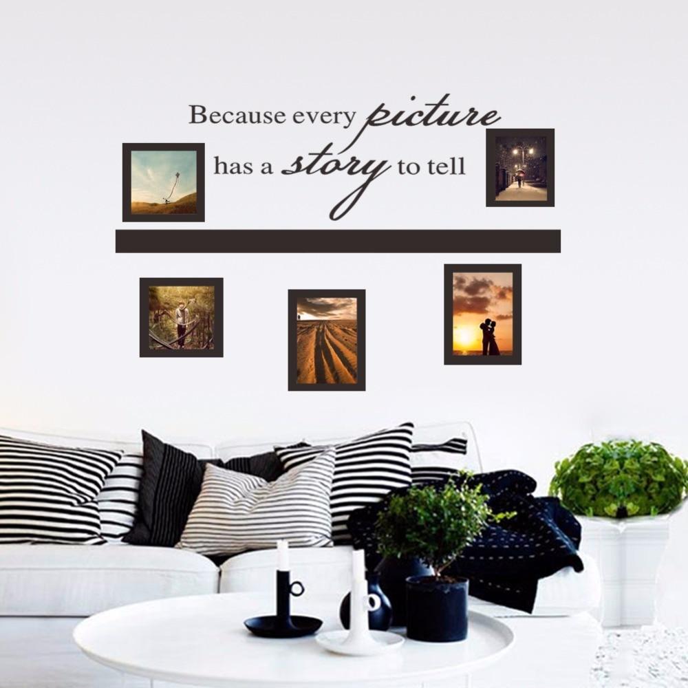 Home Decor Plane Wall Stickers Creative Photos Frame Design For ...