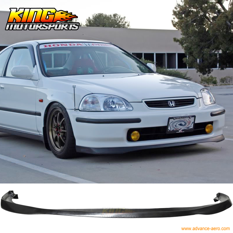For 96 98 Honda Civic Jdm Sir Front Bumper Lip Spoiler Bodykit Poly