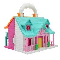 Doll House Dollhouse Frame Multicolor Wooden Dollhouse Frame House House Diy Cottage Model Assembled Villa Doll