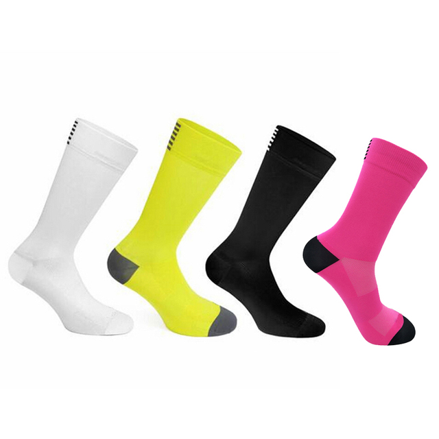 PROFESSIONAL SOFT BREATHABLE UNISEX OUTDOOR SPORTS CYCLING RACING BICYCLE SOCKS
