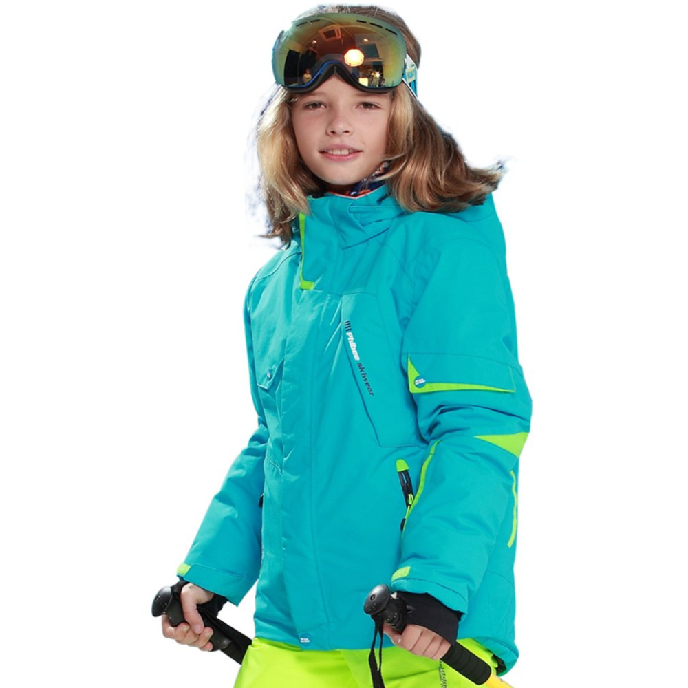 kids winter ski clothes windproof 5000 ski jackets kids' winter snow girls boys clothes For outdoor -20-30 degree Free Shipping yallo kids