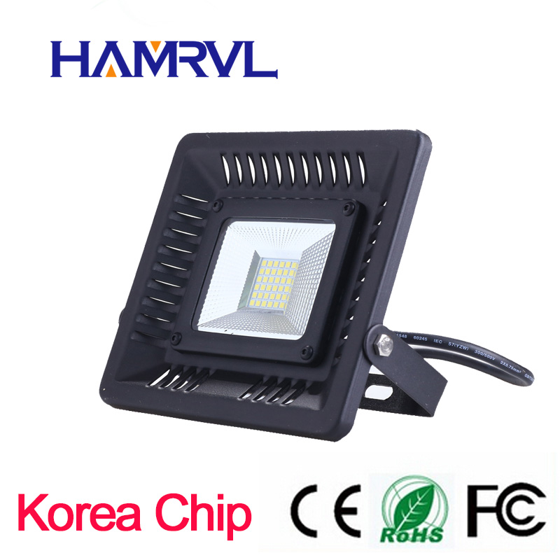 Big promotion!!! super slin LED Flood Light 30W 50W 100W 230V IP65 Waterproof Smart Driver LED Flood Light Outdoor Wall ...