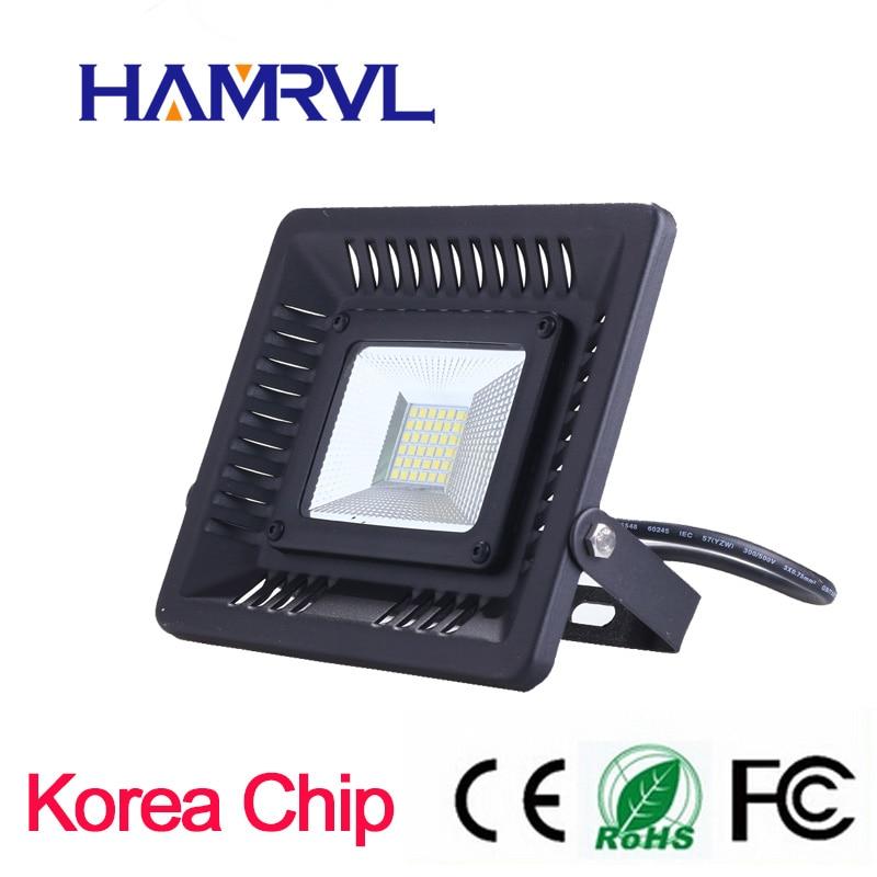 Big promotion!!! super slin LED Flood Light 30W 50W 100W 230V IP65 Waterproof Smart Driver LED Flood Light Outdoor Wall ...
