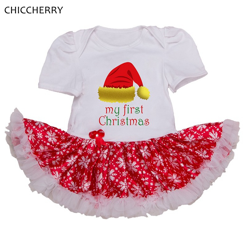 My First Christmas Outfits For Girls Clothes Toddler Lace Tutu Baby Girl Dress Vestido Bebe Clothing Infant Christmas Dresses