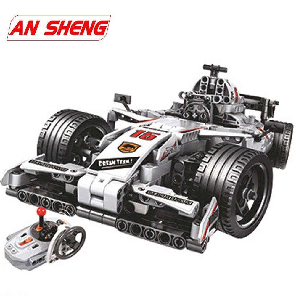 MOC F1 wyścigi samochodowe pilot zdalnego sterowania 2.4GHz Technic z silnikiem Box klocki kompatybilne klocki lego klocki zabawki dla dzieci w Klocki od Zabawki i hobby na  Grupa 1
