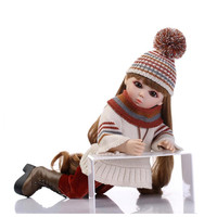 45 CM SD/BJD Doll Girls Doll with Clothes Hat and Shoes,New 2 Style Plastic Material Princess Doll 18 Inch