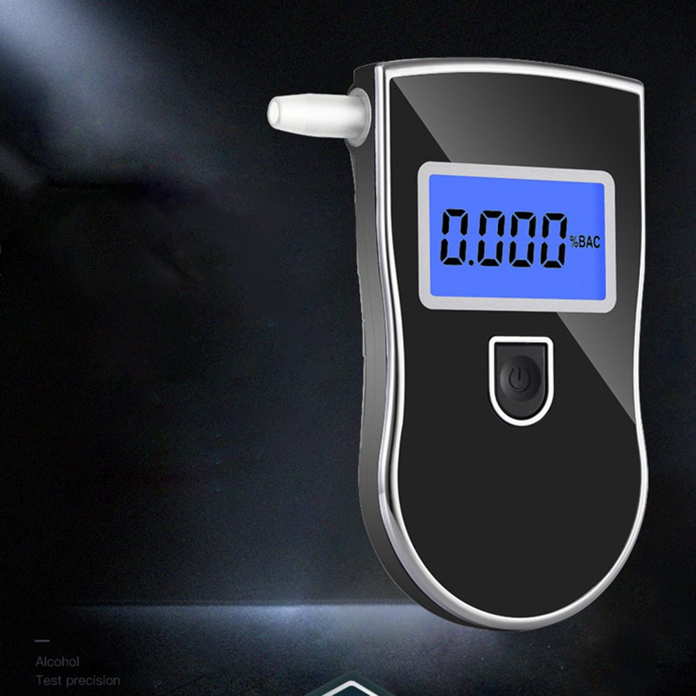 AT-818 Professional Police Digital Breath Alcohol Tester Breathalyzer Analyzer Detector Practical Tester
