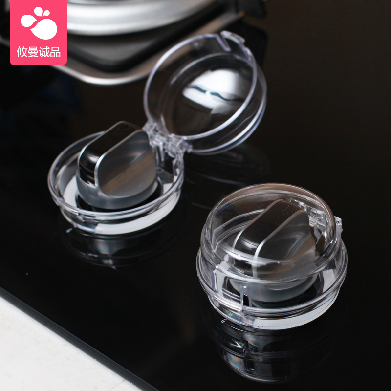 Baby Safety Lock Stove Oven Knob Cover Gas Stove Locks Gas Stove Knob Cover Protector Kitchen Children Protection Lid Oven Lock
