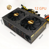 ATX Power Supply 3300W Asic Bitcoin Miner Fonte 80 Gold PC PSU For GPU Rig Video Cards GTX 1080 1070 980 R9 370 380 RX470 480