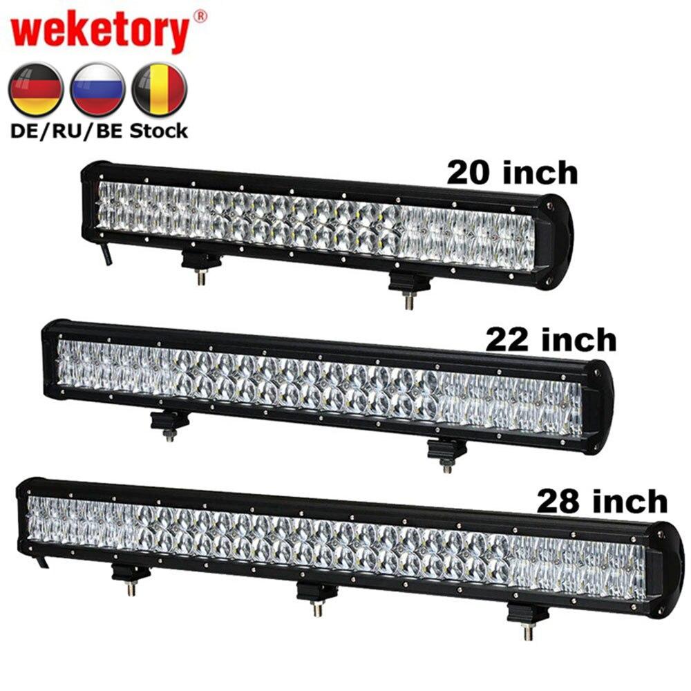 Weketory 5D 20 22 28 pouce 210 w 240 w 300 w LED Travail Light Bar pour Tracteur Bateau OffRoad 4WD 4x4 Camion SUV ATV Combo Faisceau