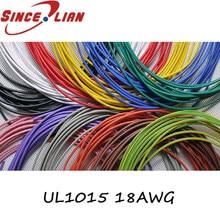 UL1015 18AWG 5/10 metros Flexible de 18AWG UL1015 diámetro 2,8mm 21/0 178TS 105 grados 600V cable electrónico Conductor