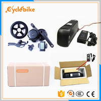 2016 newest BBS02 B 48v 750w bafang mid drive motor with 48v 11.6ah downtube lithium battery