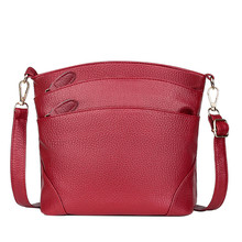 Ladies Simple Casual Messenger Bag Multi Zipper Joker Shoulder Bag Mini Coin Purse Pu Zipper Bolsas Sac Femme 2019 Nouveau