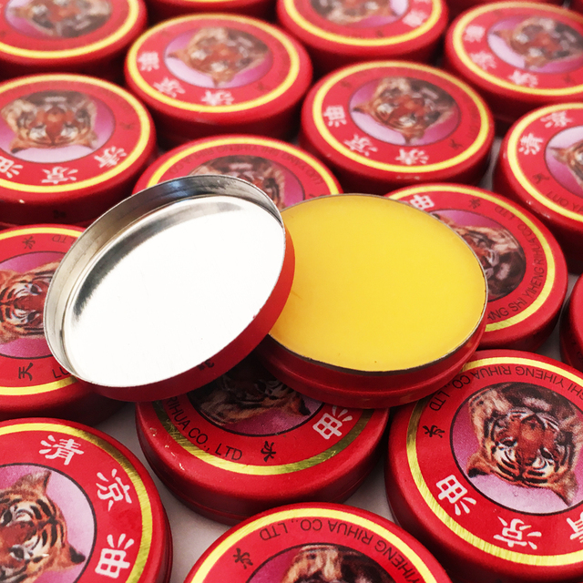 100Pcs Refresh Brain Tiger Balm Cooling Medical Oil Drive Out Mosquito Eliminate Bad Smell Treat Headache Chinese God Medicine
