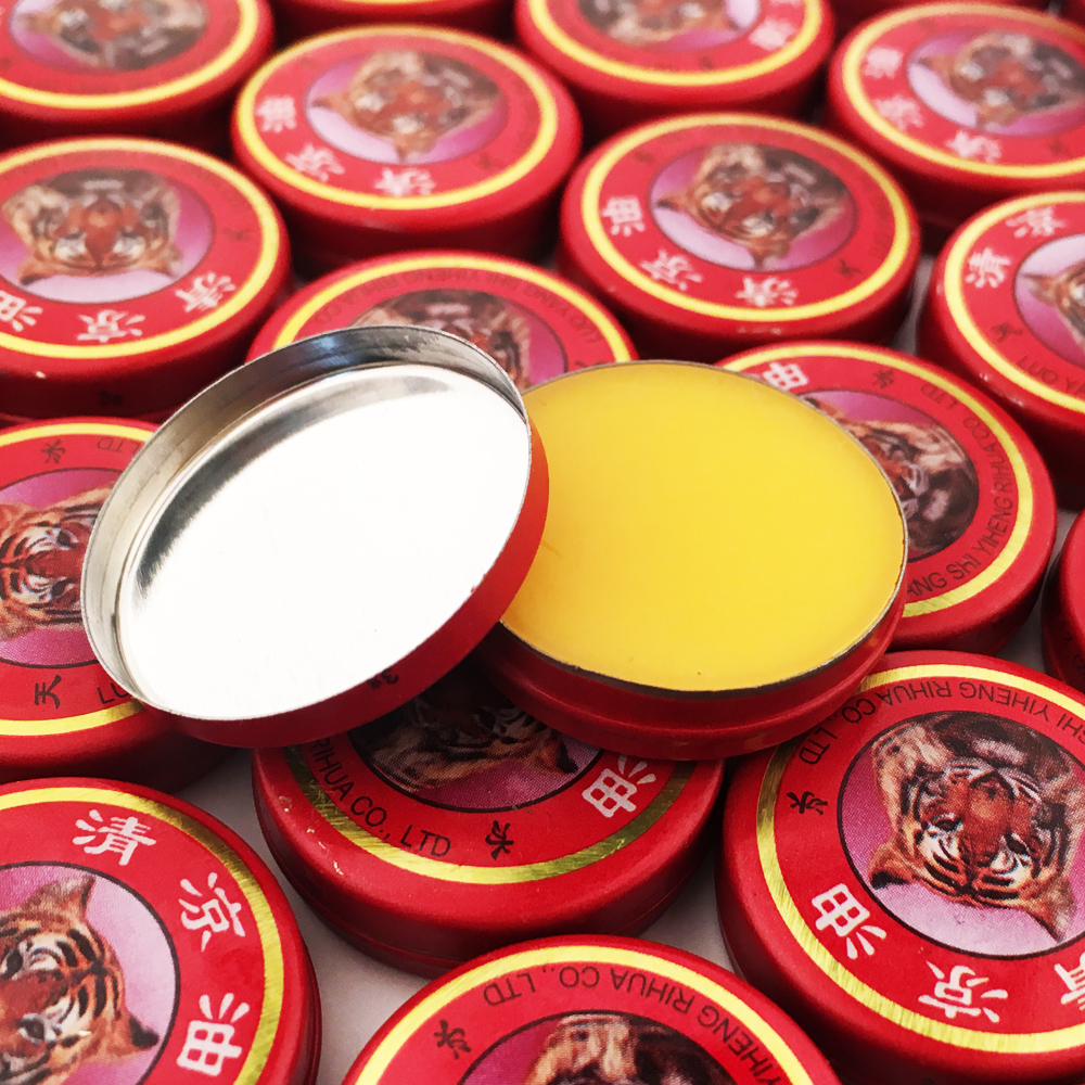 100Pcs Refresh Brain Tiger Balm Cooling Medical Oil Drive Out Mosquito Eliminate Bad Smell Treat Headache Chinese God Medicine image