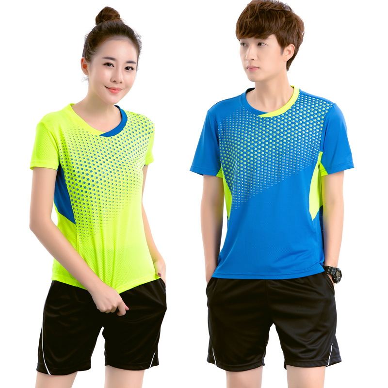 man/woman badminton tennis shirt table tennis Jersey short sleeve Running Sportswear Quick Dry breathable badminton shirt+shorts