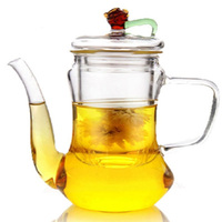 300ml Noble Princess Glass Teapot Blooming loose leaf tea Pot with Glass Infuser Microwavable stovetop Safe Gift teaware
