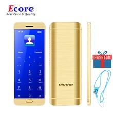 Ulcool V26 сенсорный дисплей металлический корпус bluetooth 2,0 dialer dual SIM Кредитная карта мобильный сотовый телефон+ чехол+ защита экрана