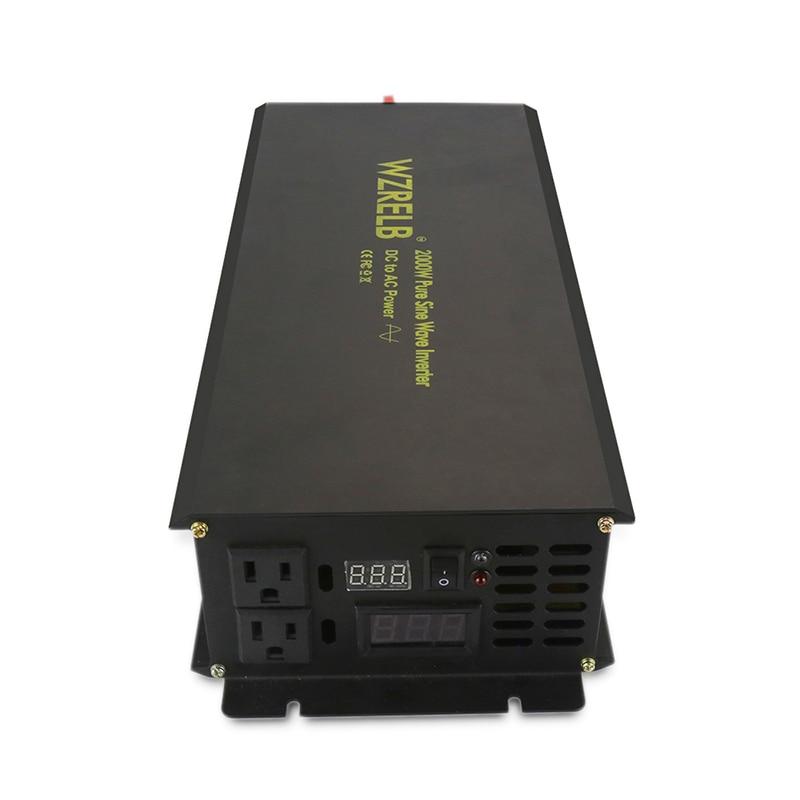 2000 W Off Grid czysta sinusoida Solar Inverter 12 V 220 V inwerter akumulatorowy transformator 24 V/36 V /48 V/96 V/110 V DC do 120/230 V/240 V AC