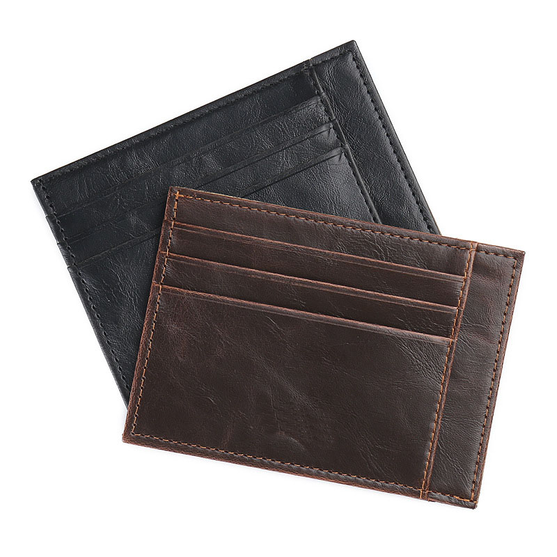 Fashion and contracted style men credit card crazy horse material male coin wallet drivi ...