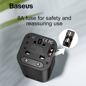 Image 3 - Baseus 18W Quick Charge 3.0 USB Charger Travel Adapter with PD3.0 Fast Phone Charger Global Conversion Charger Worldwide Adapter