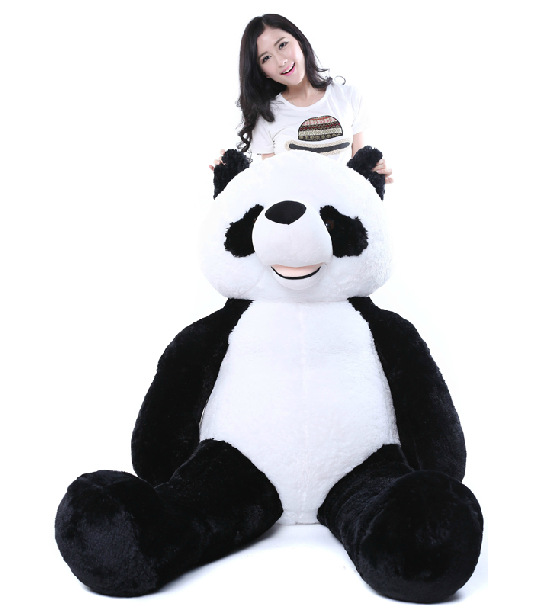 200 cm Panda Skin Plush Soft Toy without stuffed kids cute gift stuffed animal 120 cm cute love rabbit plush toy pink or purple floral love rabbit soft doll gift w2226