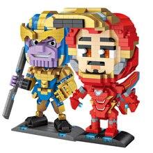 все цены на Single Marvel Iron Man Thanos Legoings Avengers Action Figures Ultimate Noir Gwenom Building Blocks Toys For Children онлайн