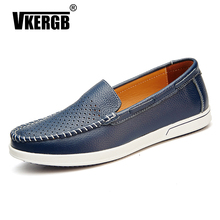 Men Loafers Classic British Casual High Quality shoes Comfortable Lok Fu Shoes Driving holes Leather Peas moccasin