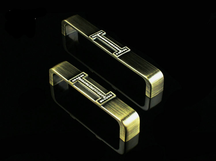New High Quality European Classic Crystal Zinc Alloy Antique Bronze Cabinets Handle/Pull Handle Knob square shaped stylish crystal zinc alloy stud earrings black bronze pair