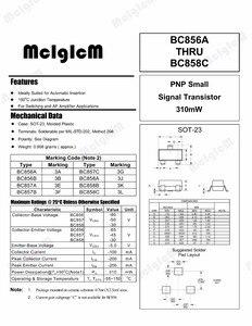 Image 3 - MCIGICM bc857,SOT 23 Triode Transistor BC857c