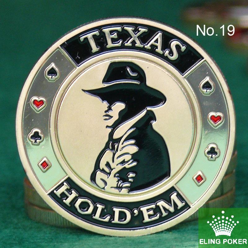 Metal for Pressing Poker Cards Guard Protector No.19  TEXAS  Poker Chips Souvenir Coins