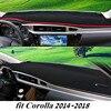 For Corolla 2014 2018 Dashboard Cover Dashmat Dash Mat Pad Sun Shade Dash Board Cover Carpet
