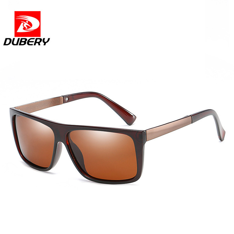 DUBERY Classic Polarized Sunglasses Men Glasses Driving Coating Black Frame Fishing Driving Eyewear Male Sun Glasses Oculos