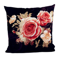 ISHOWTIENDA New 1PC 45cm*45cm Printing Dyeing Peony Bed Pillow Case Pillow Cover Decorative Throw Pillowcase