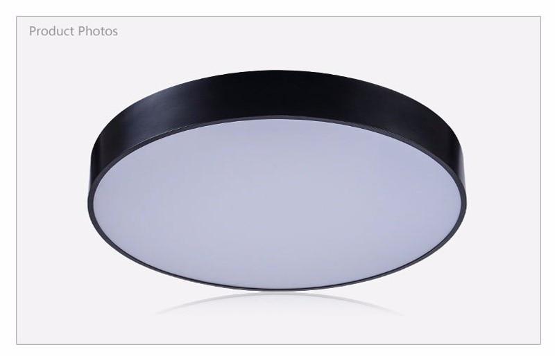 Moderne led deckenleuchte schwarz weiß runde einfache dekoration