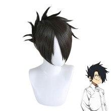O prometido neverland ray preto peruca curta cosplay traje yakusoku nenhum neverland resistente ao calor sintético cabelo role play perucas