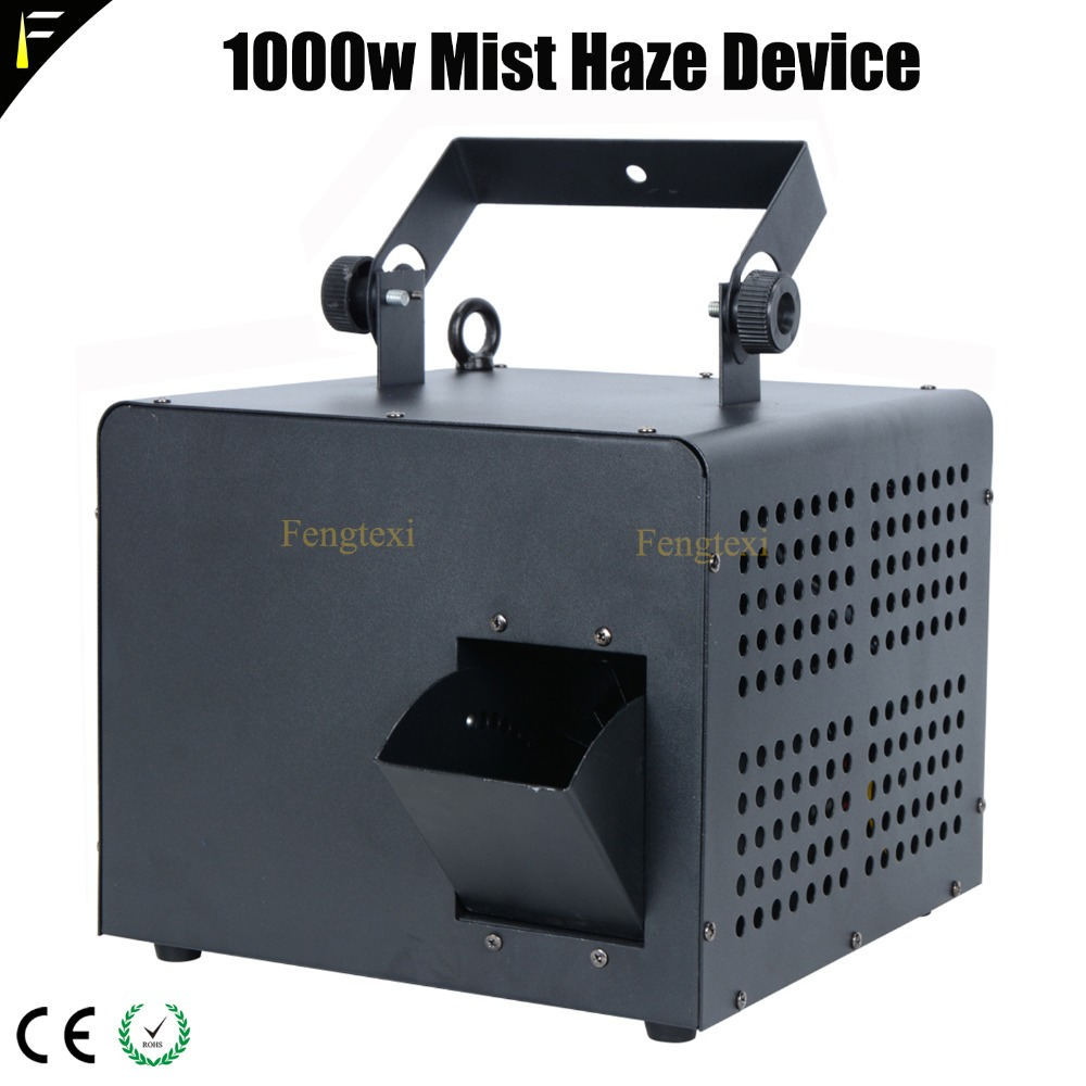 Compact 1000w Mobile <font><b>Hazer</b></font> Smog Machine Mist Haze Diffuser and Fog 2in1 Psychedelic Effect with <font><b>Stage</b></font> Lighting Mixing For Club image