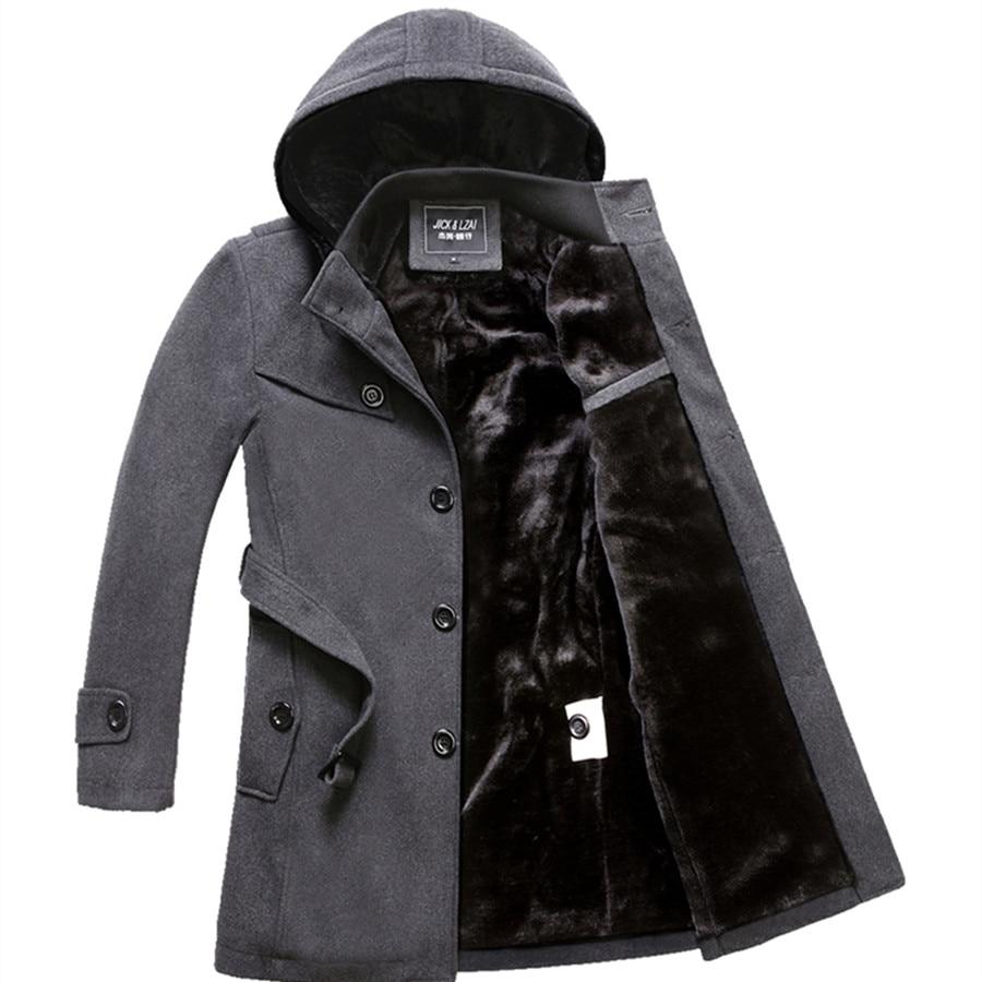2019 Winter Trench Coat Men Fashion Long Overcoat men Hot Sale Woollen Coat Thick Men's Clothing Size 4XL Wool Jackets 3