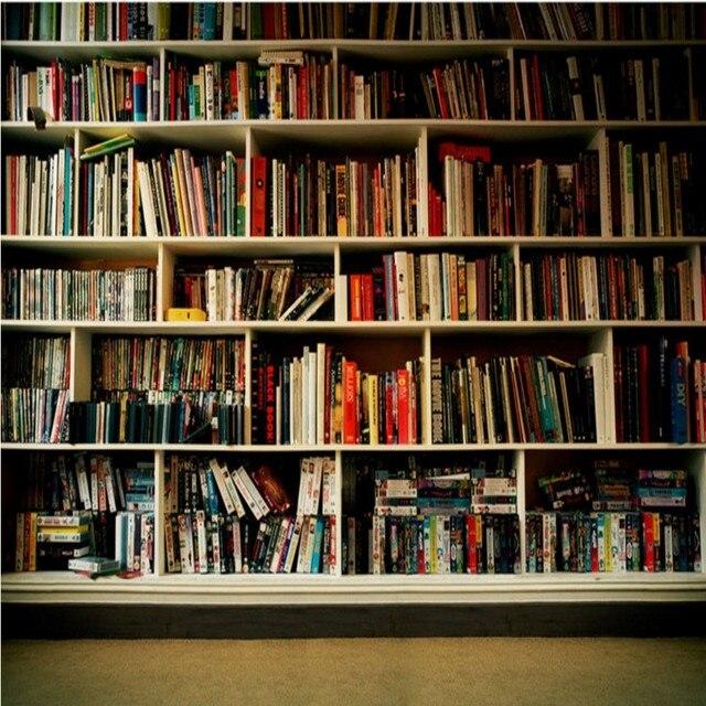 Tapete Bücherregal fototapete innen bücherregal hintergrund wandbild studie