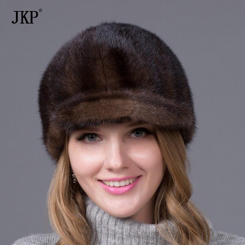 100% Իրական ամբողջ մորթուց Mink Fur Caps Visors - Հագուստի պարագաներ - Լուսանկար 6