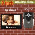 2016 Новый 9 Дюймов Большой Экран + 900TVL HD Видеокамера внутренней связи Телефон Двери Дверь Камеры Домофон Дверной звонок ИК Ночного видение