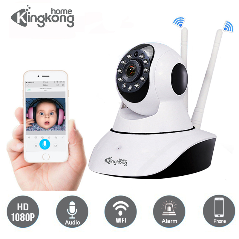 Kingkonghome IP Camera 1080P indoor Security camera ip wireless wifi surveillance night vision ptz cctv camera 2mp baby monitor wireless security ptz ip camera wifi home surveillance 1080p night vision cctv camera ip onvif p2p baby monitor indoor 3d camera